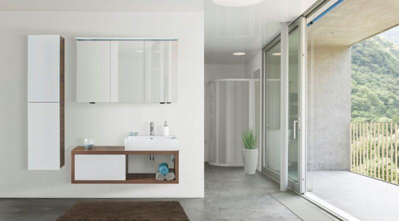 Koupelnový nábytek STORM s doplňkovou skříní